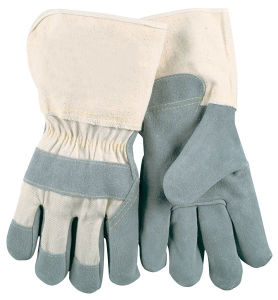 Cow Split Leather Durable Gray Industrial Gloves (HD-GLO-1730)