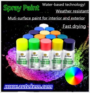 Water Based Aerosol Spray Paint Environment Friendly Water-Based Paint, Spray Can pictures & photos