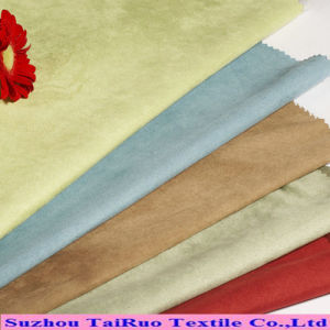 100% Polyester Suede Fabric for Upholstery Suede Fabric Bag pictures & photos