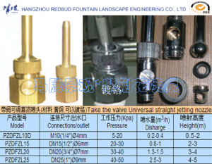 Straight Jetting Nozzle with Valve in Brass (can be chrome plated) pictures & photos