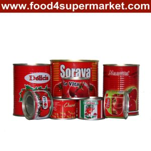 Tomato Paste 70g / 800g / 235kg pictures & photos