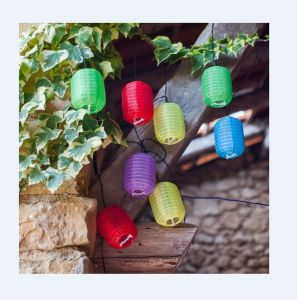 Multi Color Solar Chinese Lanterns String Light For Outdoor Decoration Led Lantern Decorative