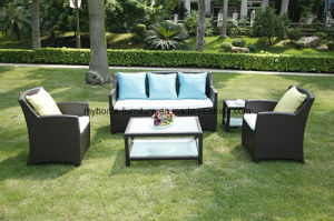 China Outdoor Rattan Dining Set Garden Coffee Table and Chairs ...