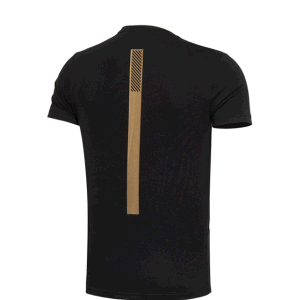 Black 100% Cotton OEM Service Round Neck Rubber Printing T-Shirt for Men pictures & photos