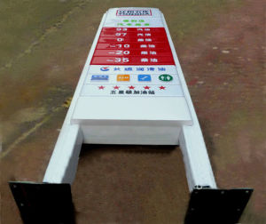 Outdoor Customized Advertising LED Pylon Sign Boxes for Gas Station Using pictures & photos