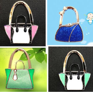 Wholesale Lock Shaped Foldable Bag Hanger pictures & photos