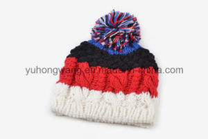 Customized Winter Warm Acrylic Knitted Beanie Skull Hat/Cap