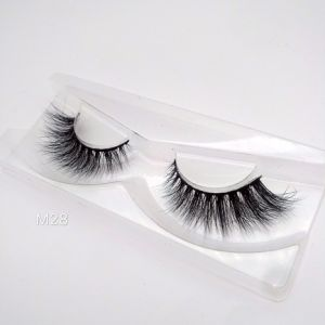132bc341190 3D Faux Mink Double Layered Silk Lashes Synthetic Fake Eyelash Extension  with Private Label