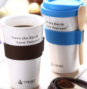 1e4e654a86e China Ceramic Travel Mug Ceramic Coffee Mug Without Handle/with Silicone Lid  - China Ceramic Cup, Ceramic Coffee Cup
