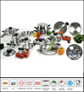23piece Stainless Steel Cookware Set Wide Rolled Edge pictures & photos