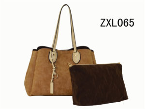 Popular Sell PU Leather Office Ladies Handbag with Shoulder Strap (ZXL065) pictures & photos