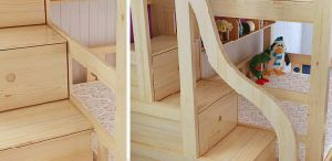 Simple Style Wooden Bunk Bed with Ladder Ark (M-X1109) pictures & photos