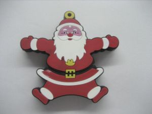 Christmas Gift and Lovely Santa Claus PVC USB Flash Drive (OM-P145) pictures & photos
