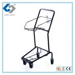 Simple and Compact Basket Hand Trolley for 2 Baskets pictures & photos