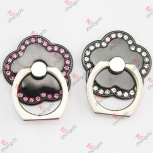 Black Flower Ring Phone Holder
