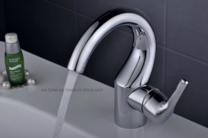Fashion Brass Washbasin Faucet Single Handle Water Mixer (Q3065) pictures & photos