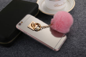 Eletroplated Mirror Case with Pompon Cell/Mobile Case for iPhone 6