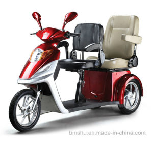 3 Wheel Double Seat Electric Mobility Handicapped Scooter with 500W pictures & photos