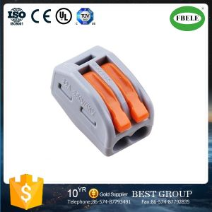 Spring Lever Resumable Cable Terminal Block 2 Pin Connector pictures & photos