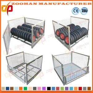 Metal Foldable Warehouse Wire Mesh Container Steel Storage Cage (Zhra13) pictures & photos