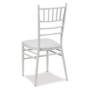 White Aluminum Stackable Chiavari Chair for Wedding and Hotel pictures & photos