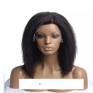 14 Inch Bobo Short Straight Yaki Synthetic Lace Front Wig with Baby Hair
