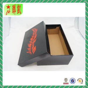 Black Two Piece Corrugated Paper Shoe Box pictures & photos