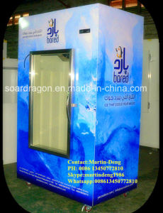 Glass Door Display Bagged Ice Merchandiser with 420lbs Capacity pictures & photos