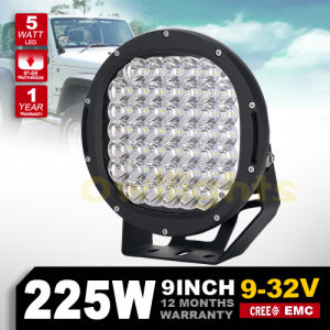 9′ 225W LED Driving Lights 4X4 Accessories Used for Truck Jeep SUV ATV Round 9inch 225W LED Offroad Lights with CE RoHS