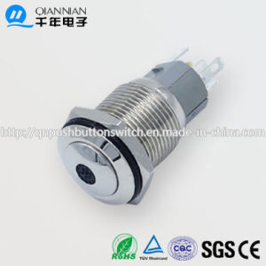 Qn16-F4 16mm DOT Type Momentary|Latching Domed Head Pin Terminal Metal Push Button Switch pictures & photos