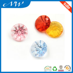 Fancy Colorful Acrylic Button with Tunnel Shank