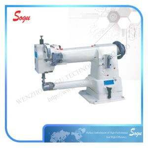 Single Needle Compound Feed Cylinder Shoe Sewing Machine pictures & photos