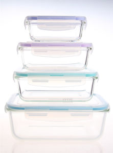 China High Borosilicate Pyrex Glass Food Storage Container Safe for