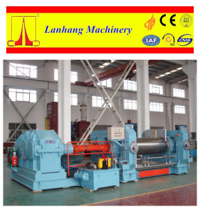 Peripheral Drilled Roll Rubber Two Roll Mixing Mill pictures & photos