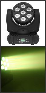 7PCS 15W LED Beam Wash Moving Head