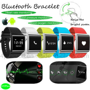 Bluetooth Bracelet with Heart Rate and Blood Pressure Monitor (X9PLUS) pictures & photos