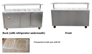 Insulated Garnish & Topping Station with Refrigerator pictures & photos
