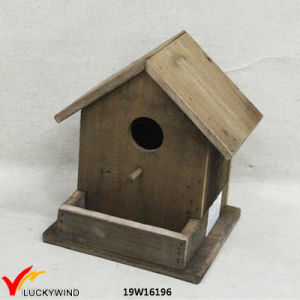 Antique Natural Wooden Old Fashioned Decorative Pick Birdhouse pictures & photos
