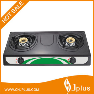 Gas Stove with Two Burner Non Stick Gas Cooker (JP-GC206TS) pictures & photos