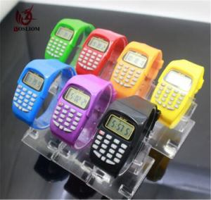 Calculator Silicone Watch Electronic Digital Kids Children Boys Girls Sport Rubber Wrist Watches #V957