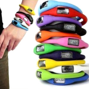 Silicone Ion Sport Watch Band with Logo Printed (4008)