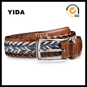 Hot Sale Woven Leather Belts for with High Quality Aolly Buckle (YD-15035)