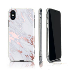 Fashion Luxury Marble TPU Mobile Cell Phone Case for iPhone X