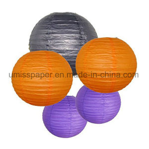 2pcs Paper Honeycomb Ball Colorful Lantern Halloween Christmas Party Decoration
