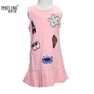 07692f674 Girls Dress Princess Pink Cartoon Vest Baby Sequin Dress Kids Girls Dress