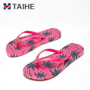 4802e9505e86 China Heat Transfer Printing Sandals Flip Flops Women 2018 - China ...