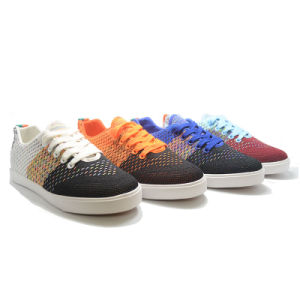 Sneakers Flyknit Sports Running Colorful Casual Men Vulcanization Shoes pictures & photos