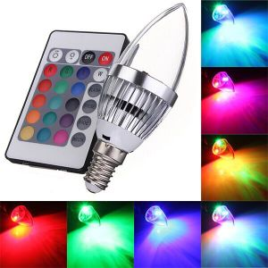 RGB LED Remote Candle Bulbs E27 E14 B22 Holiday Lights with 120 Degree Beam Angle for Party Lamps pictures & photos