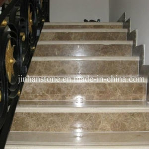 Nice Light Emperador Marble Stair Tread For Indoor Building Material