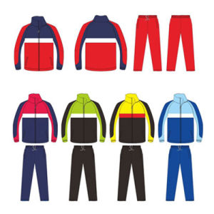 Full Zip Sports Jacket and Pants Tracksuit for Warm up pictures & photos